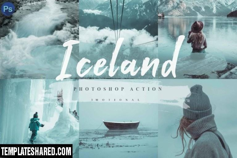 10 Iceland Photoshop Actions Acr Lut 4593069