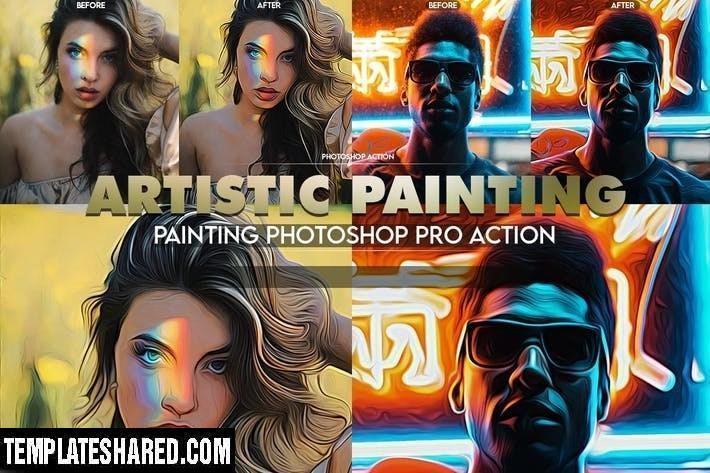 Artistic Painting Photoshop Action G5tfspc