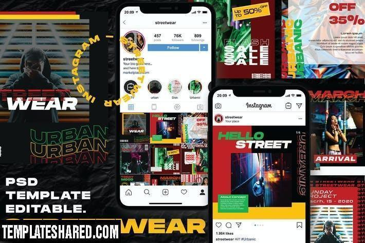 Streetwear Instagram Post And Stories Rb4agzq